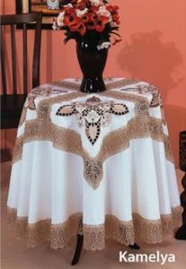 Скатерть ТМ Arya с гипюром Kamelya 1550290
