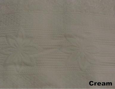Полотенце ТМ Arya бамбук-жаккард Nergis кремовое 50х90