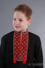 Вышиванка для мальчика 2006 черный лён