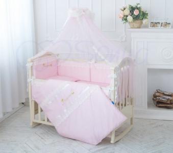 Детский набор из 7 предметов ТМ Маленькая Соня Принцесса розовый