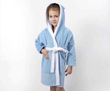 Халат махровый детский ТМ Lotus Зайка новый голубой