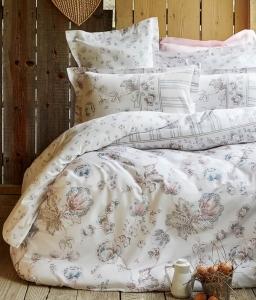 Постельное белье ТМ Karaca Home сатин Fanetta Mavi евро-размер