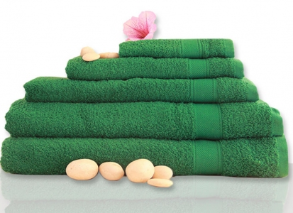 Полотенце махровое ТМ Novita гладкокрашенное dark green