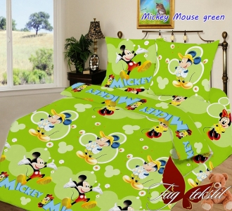 Подростковый постельный комплект ТМ TAG Mickey Mouse green