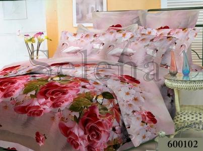 Постельное белье ТМ Selena Лилея поликоттон Розы 600102
