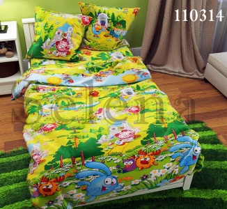 Подростковое постельное белье ТМ Selena бязь Смешарики 110314