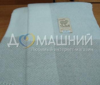 Плед кашемир-меринос ТМ Vladi элитная коллекция 140х200 белый