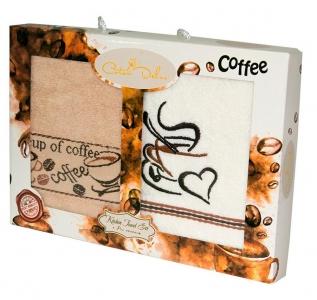 Набор полотенец кухонных 2 шт ТМ Gursan coffee 1 40х60
