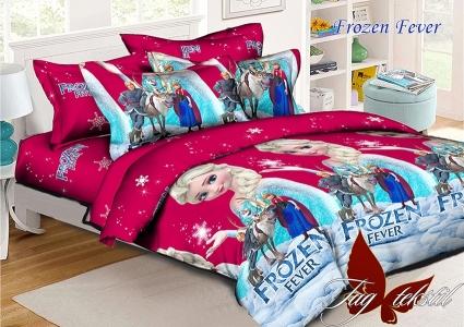 Подростковый постельный комплект ТМ TAG ранфорс Frozen Fever