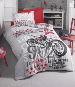 Подростковое постельное белье ТМ Cotton Box ранфорс Freestyle Gri