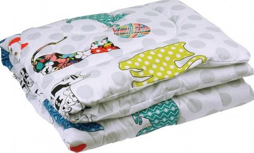 Одеяло детское силиконовое стеганое ТМ Руно Cat 140х105