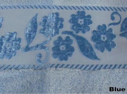 Полотенце махровое ТМ Arya Микрокоттон Mimoza голубое 70х140