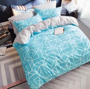 Постельное белье сатин ТМ Bella Villa B-0122 евро-размер