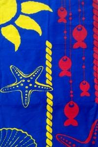 Полотенце велюровое пляжное Турция Morskaya zvezda 75х150