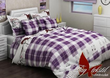 Постельное белье ТМ TAG ранфорс R2068 violet