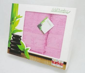 Набор полотенец Turkiz Bamboo розовое