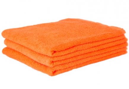 Махровое полотенце Узбекистан 500г/м2 оранжевое 40x70см