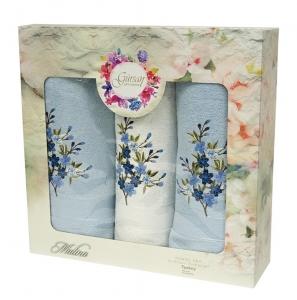 Набор махровых полотенец из 3 штук ТМ Gursan blue