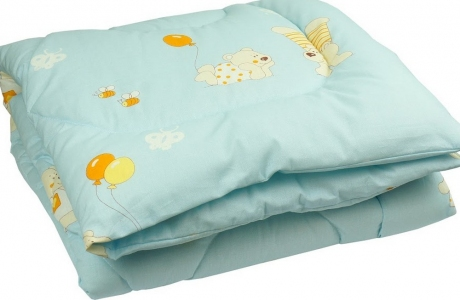 Одеяло детское силиконовое стеганое ТМ Руно голубое