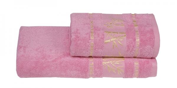 Полотенце ТМ Gursan Bamboo розовое