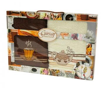 Набор полотенец кухонных 2шт ТМ Gursan кофе 2 40х60