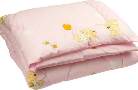Одеяло детское силиконовое стеганое ТМ Руно розовое