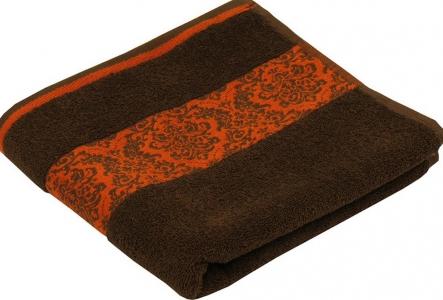 Полотенце махровое жаккардовое ТМ Руно шоколадный цвет