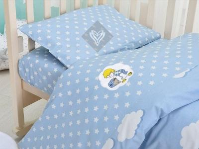 Детский постельный комплект ТМ Идея Звездочки голубой