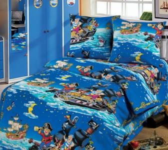Подростковый постельный комплект ТМ ТOP Dreams Пираты