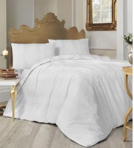 Постельное белье ТМ Altinbasak ранфорс Nobby beyaz евро-размер