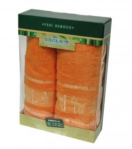 Набор полотенец из 2 штук ТМ Gursan Bamboo orange