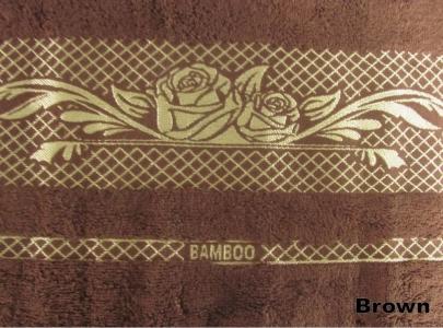 Полотенце ТМ Arya бамбук Viktorya Gul коричневое 70Х140