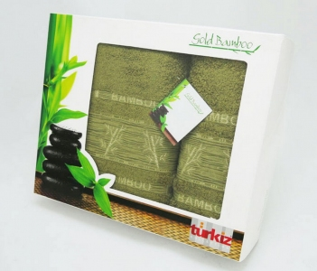 Набор полотенец Turkiz Bamboo хаки