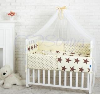 Детский набор из 7 предметов ТМ Маленькая Соня Comfort Шоколадные звезды