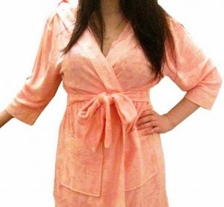 Халат махровый ТМ Nusa розовый женский размер S