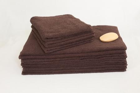Махровое полотенце Узбекистан 400г/м2 размер 50х90см коричневое