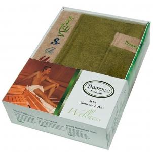 Набор ТМ Gursan для сауны мужской 2-х предметный зеленый