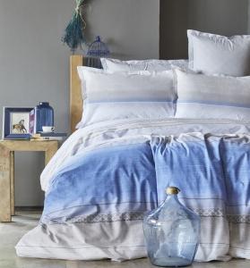 Постельное белье ТМ Karaca Home ранфорс Indigo Lapis евро-размер