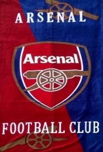 Полотенце велюровое пляжное Турция FC Arsenal 75х150