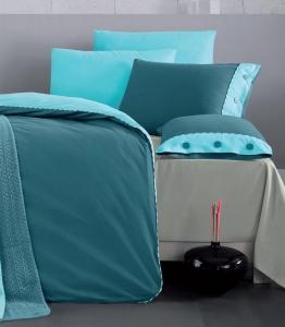 Постельное белье ТМ Luoca Patisca Ranforce Juliet Petrol Turquoise евро-размер