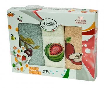 Набор полотенец кухонных ТМ Gursan фрукты 3шт 30х50