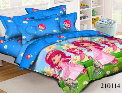 Подростковое постельное белье ТМ Selena ранфорс Шарлотта Земляничка