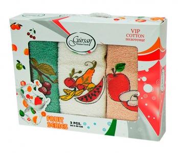 Набор полотенец кухонных 3шт ТМ Gursan фрукты 2 30х50