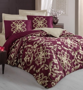Постельное белье ТМ Cotton Box Royal SateTaylor Kirmizi евро-размер