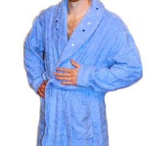 Халат махровый ТМ Mariposa голубой мужской размер L