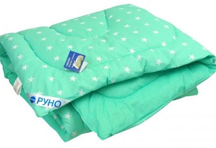 Одеяло детское зимнее шерстяное стеганое ТМ Руно Mint