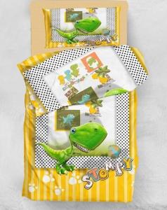 Подростковое постельное белье ТМ Eponj Home микросатин Stompy Sari Yesil