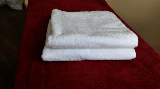 Махровые полотенца ОПТ Узбекистан 400г/м2 размер 50х90см белое