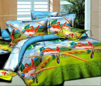 Подростковое постельное белье ТМ Selena ранфорс Тачки-летачки 210213