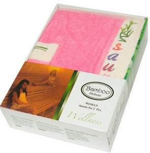 Набор ТМ Gursan для сауны женский 2-х предметный розовый